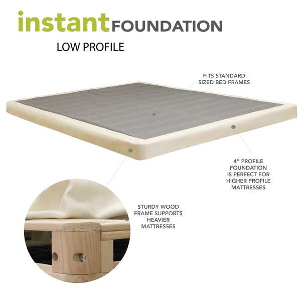 Alwyn Home 4 Quot Low Profile Mattress Foundation Amp Reviews