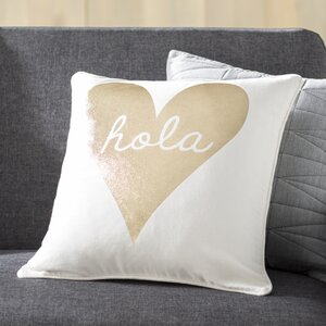 Carnell Hola Cotton Throw Pillow Cover