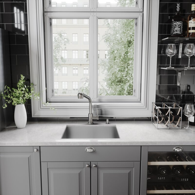 Avondale Pull Out Single Handle Kitchen Faucet With Optional Soap Dispenser