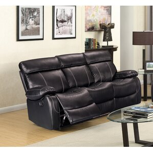 Alvia Breathing Leather Reclining Sofa by Living In Style