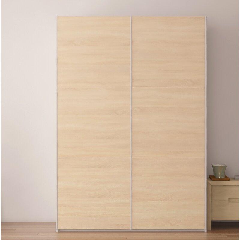 Brayden Studio Zastrow Wardrobe Armoire With Sliding Doors Wayfair