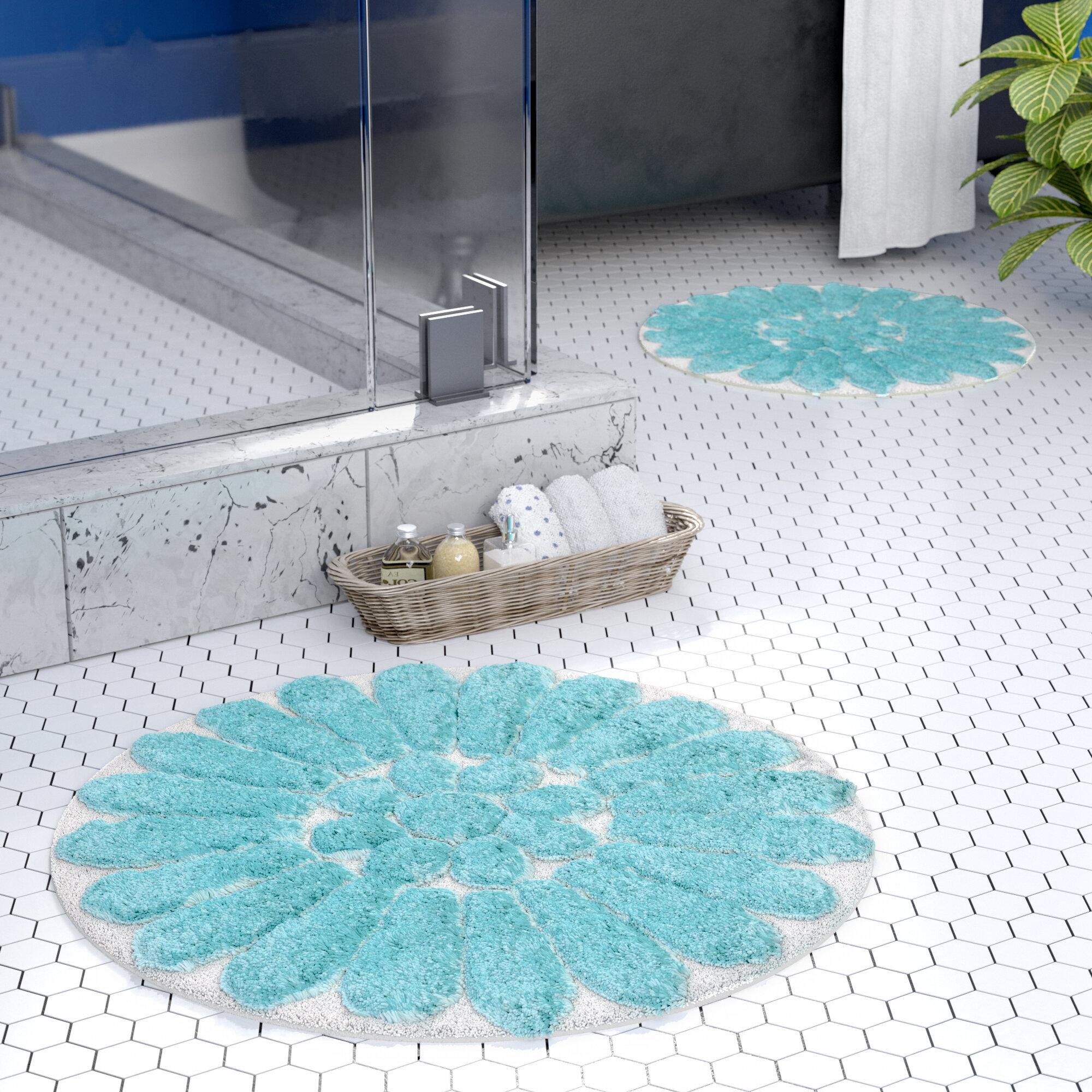 Latitude Run Cressona Bursting Flower Bath Rug Set Reviews Wayfair