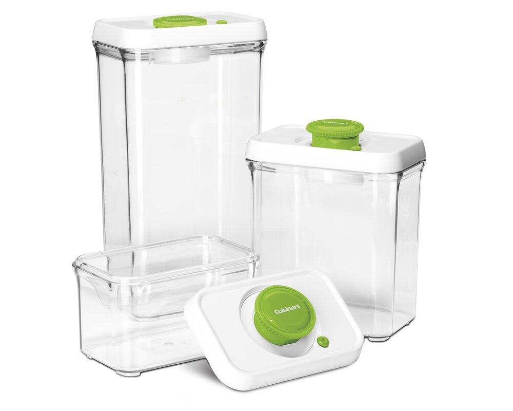 Fresh Edge Vacuum Seal 3 Container Food Storage Set