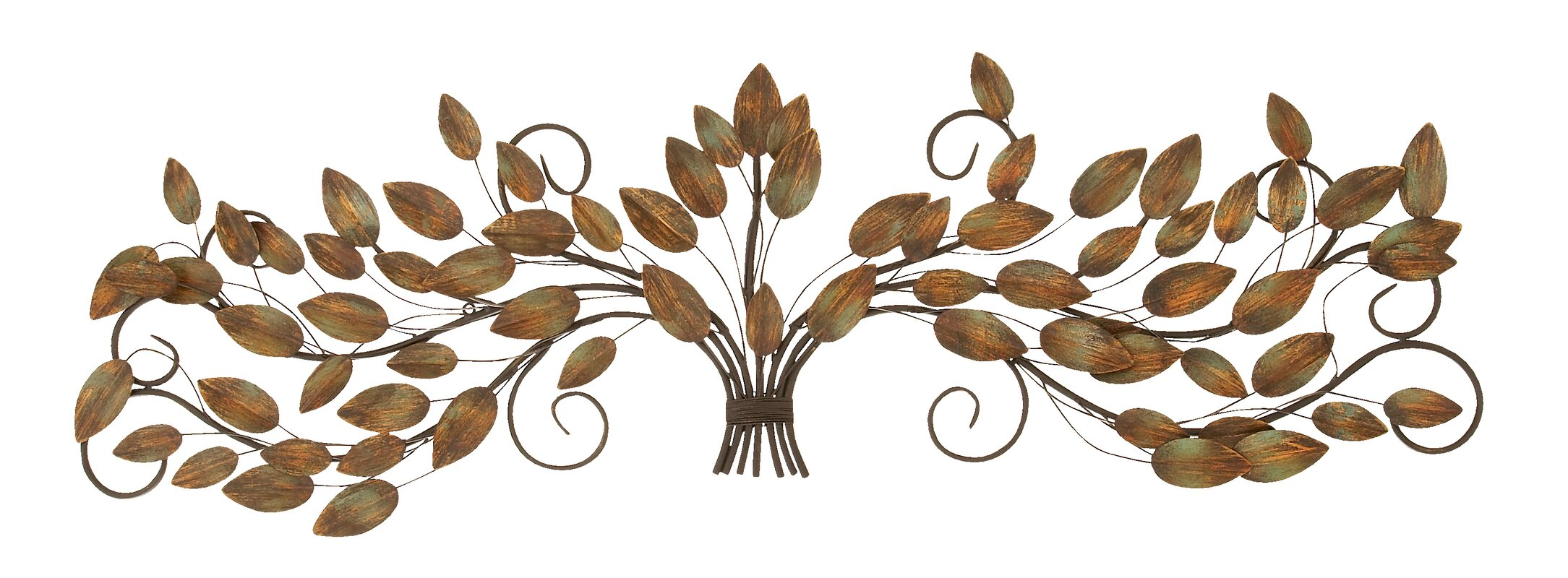 Metal Leaves Wall Decor cole & grey metal leaf wall décor & reviews | wayfair