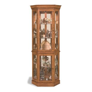 Lighthouse Lighted Corner Curio Cabinet