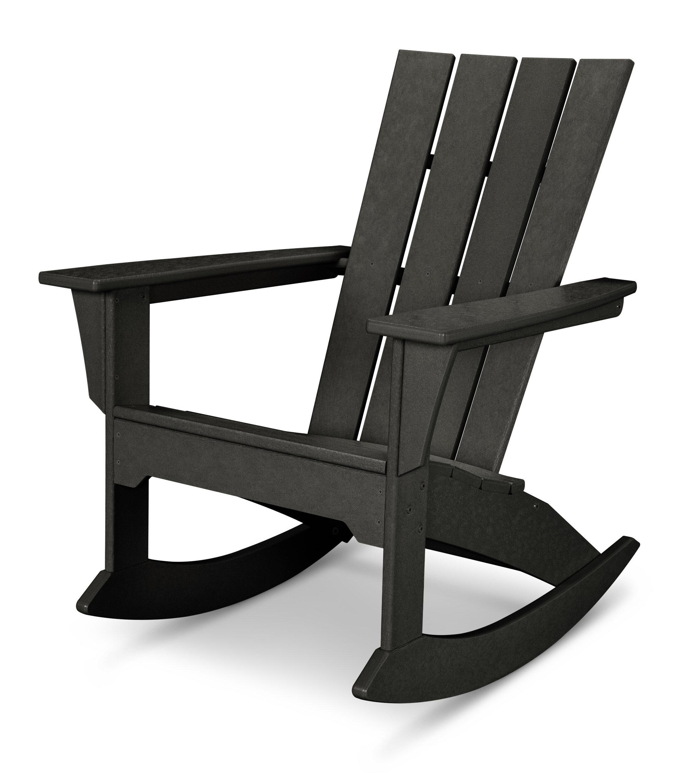 Beau POLYWOOD® Quattro Plastic Rocking Adirondack Chair U0026 Reviews | Wayfair