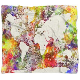 World map blanket wayfair watercolor world map blanket gumiabroncs Images