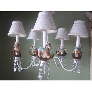 Baby rocking horse wayfair baby rocking horse 5 light shaded chandelier aloadofball Choice Image
