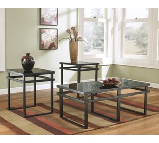 Hailie 3 Piece Coffee Table Set & Coffee Table Sets Youu0027ll Love | Wayfair