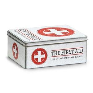 Medizin-Box First Aid aus Metall von Zeller Present