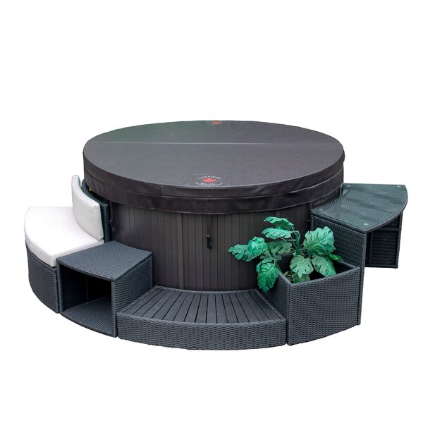 Canadian Spa Co Round Spa Surround Furniture 5 Piece Set