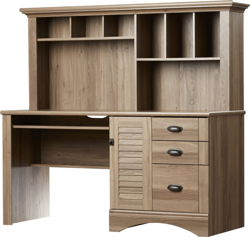 default_name - Beachcrest Home Pinellas Rectangular Computer Desk With Hutch And