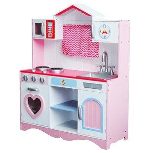 javen children wooden play kitchen set - Toy Kitchen