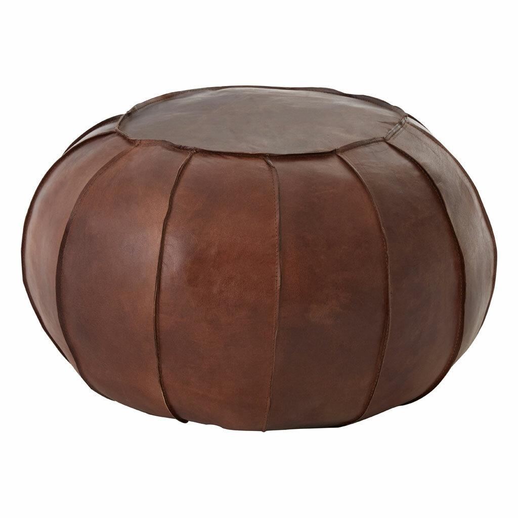 Addie Leather Pouffe