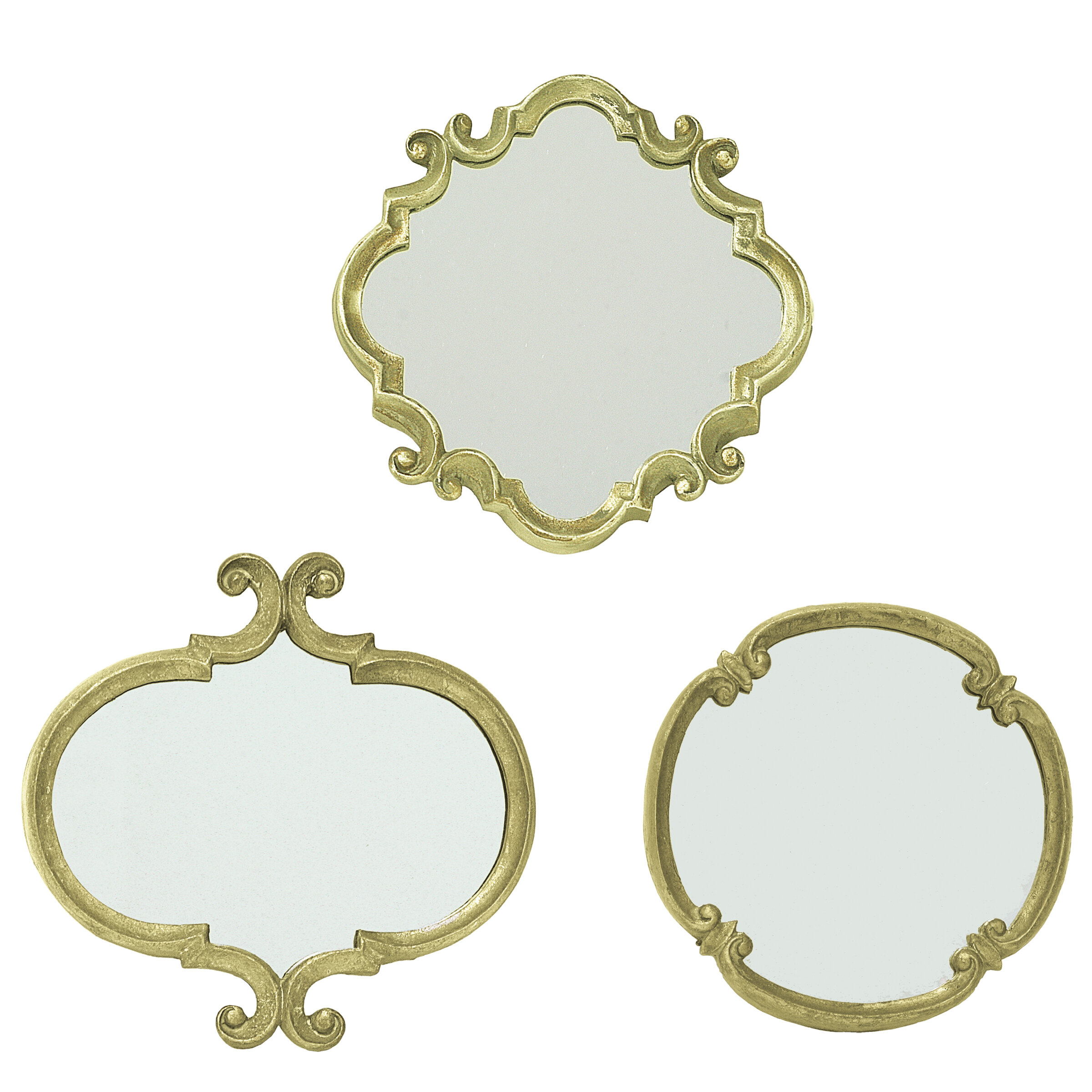 3 Piece Contemporary Meadow Wall Mirror Set Reviews Joss Main
