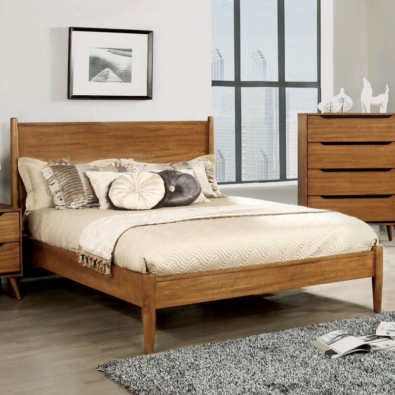 mercury row mason mid century modern platform bed reviews wayfair. Black Bedroom Furniture Sets. Home Design Ideas
