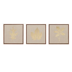 'Golden Harvest' 3 Piece Framed Graphic Art on Wrapped Canvas Set