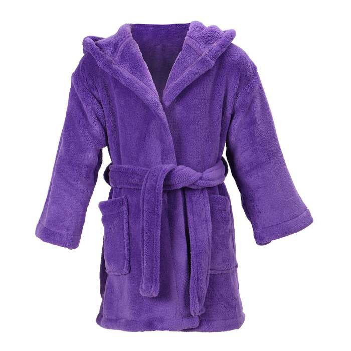 Zoomie Kids Gibson Velvet Cotton Blend Plush Velour Bathrobe ... 998678125