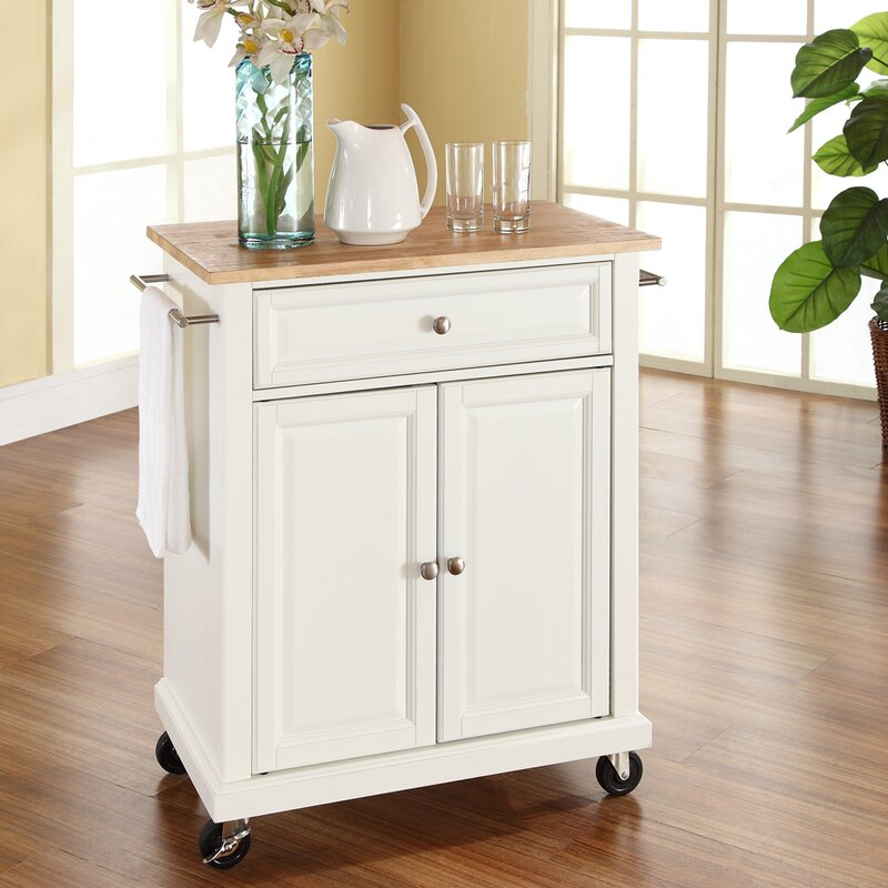 Perfect Bexton Kitchen Cart With Wood Top