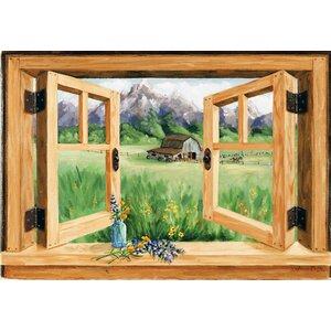 willis mounting faux window scene wall plaque - Window Frame Art