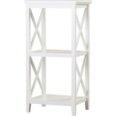 Beachcrest Home Nellis 18 W x 36.25 H Bathroom Shelf Color: White