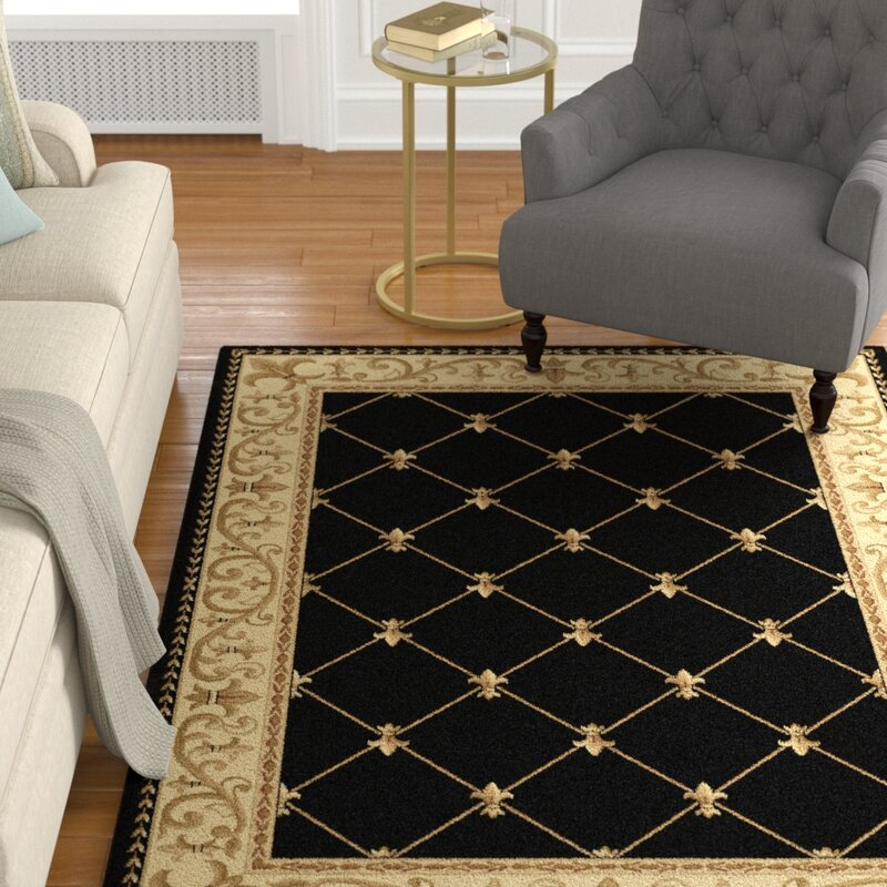 Astoria Grand Clarence Black Gold Area Rug Amp Reviews Wayfair