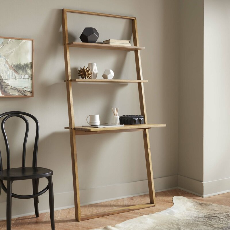 Varick Gallery Simonetti Leaning Desk with Bookcase Reviews