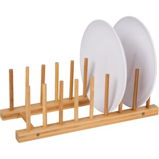 Edgecomb Natural Bamboo Plate Holder  sc 1 st  Wayfair : holder plate - pezcame.com