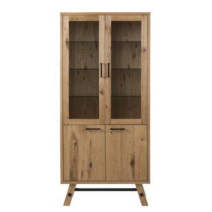 Tarra Standard Display Cabinet  sc 1 st  Wayfair & Oak Display Cabinets | Wayfair.co.uk