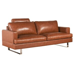 Charles Top Grain Leather Loveseat by Brayden Studio