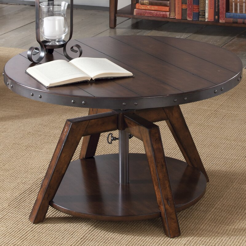 Round Coffee Table With Adjustable Height: Hebbville Coffee Table & Reviews