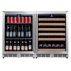 46 Bottle Dual Zone Built-In Wine Cooler by Kingsbottle