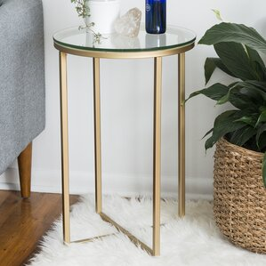 Angeles Round End Table by Everly Quinn