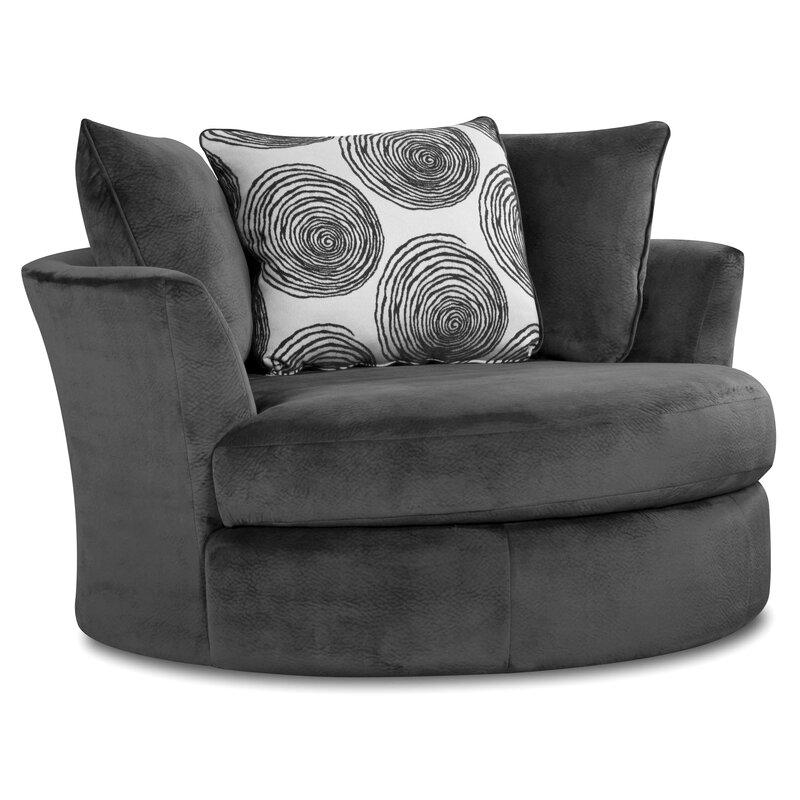 Dracaena Swivel Barrel Chair