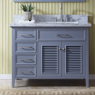 Hamil Right Offset 43 Single Bathroom Vanity With Mirror