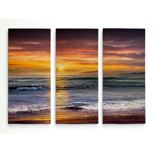 U0027Sundown Descanso Beachu0027 Graphic Art Print Multi Piece Image On Wrapped  Canvas