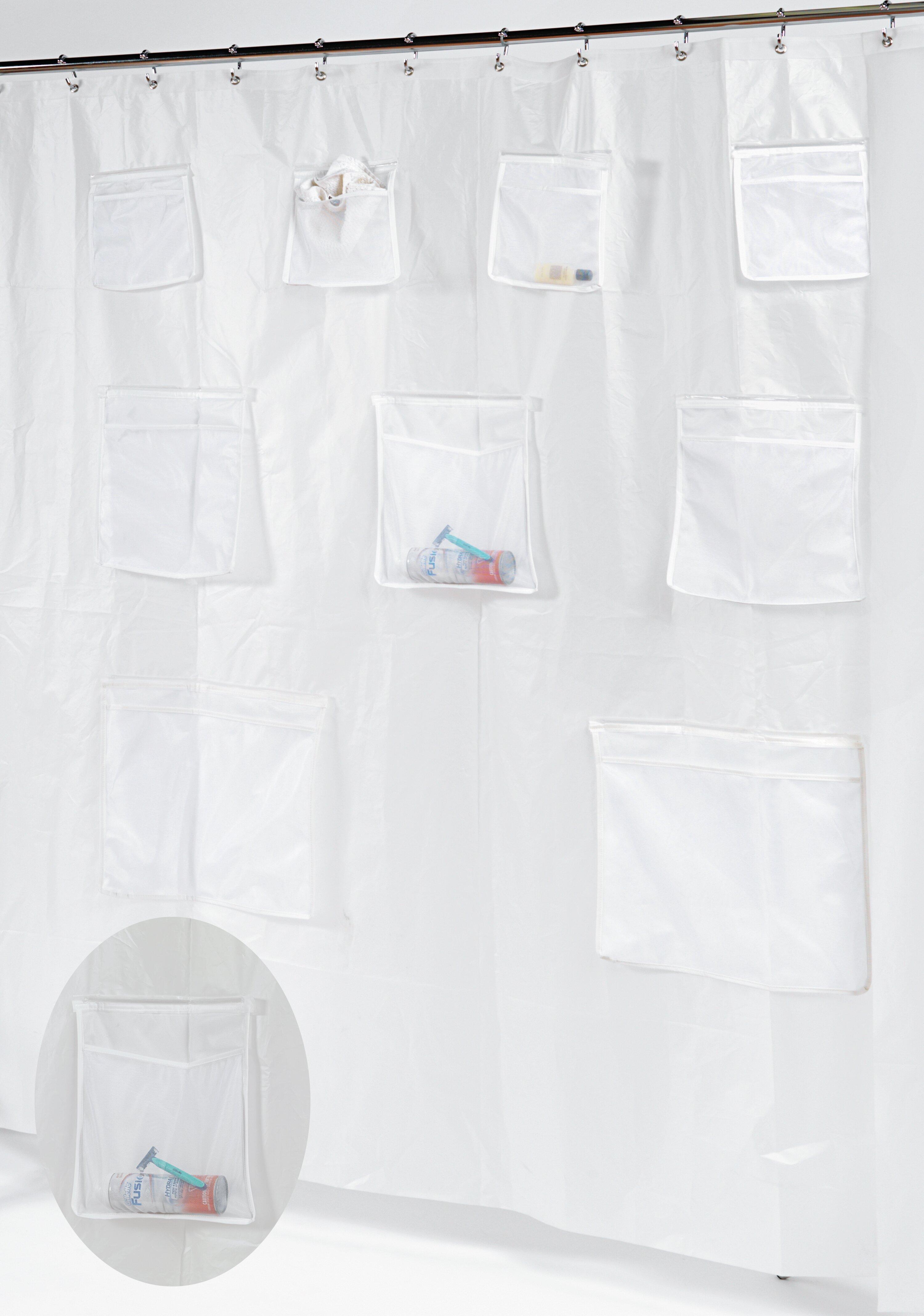 Ben And Jonah Pockets PEVA Shower Curtain