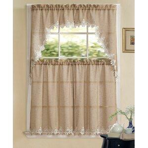 Brookport Luxurious Matte Sheer Kitchen Curtain