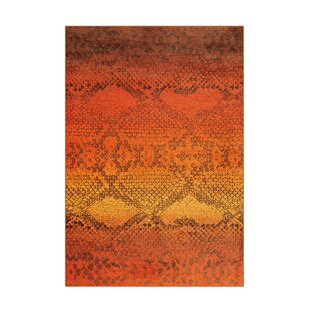 Flash Flatweave Orange Rug by Kayoom