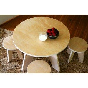 Kids Areo 3 Piece Table U0026 Stool Set