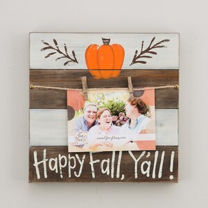 Happy Fall Y'all Clip Picture Frame