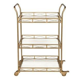 Menachem Metal 3 Tiered Tray Bar Cart