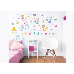Attractive Mermaids 56 Piece Wall Decal Set