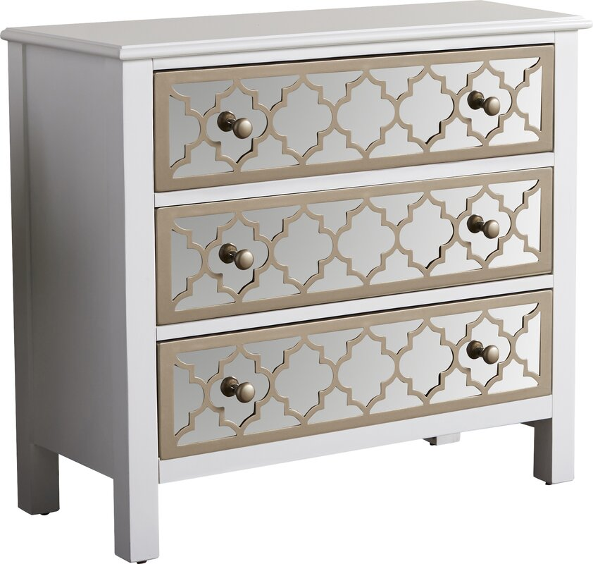 Fernwood  Drawer Overlay Mirrored Accent Chest