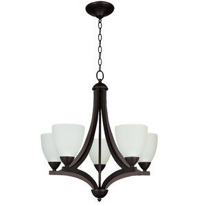 Alvah 5-Light Shaded Chandelier