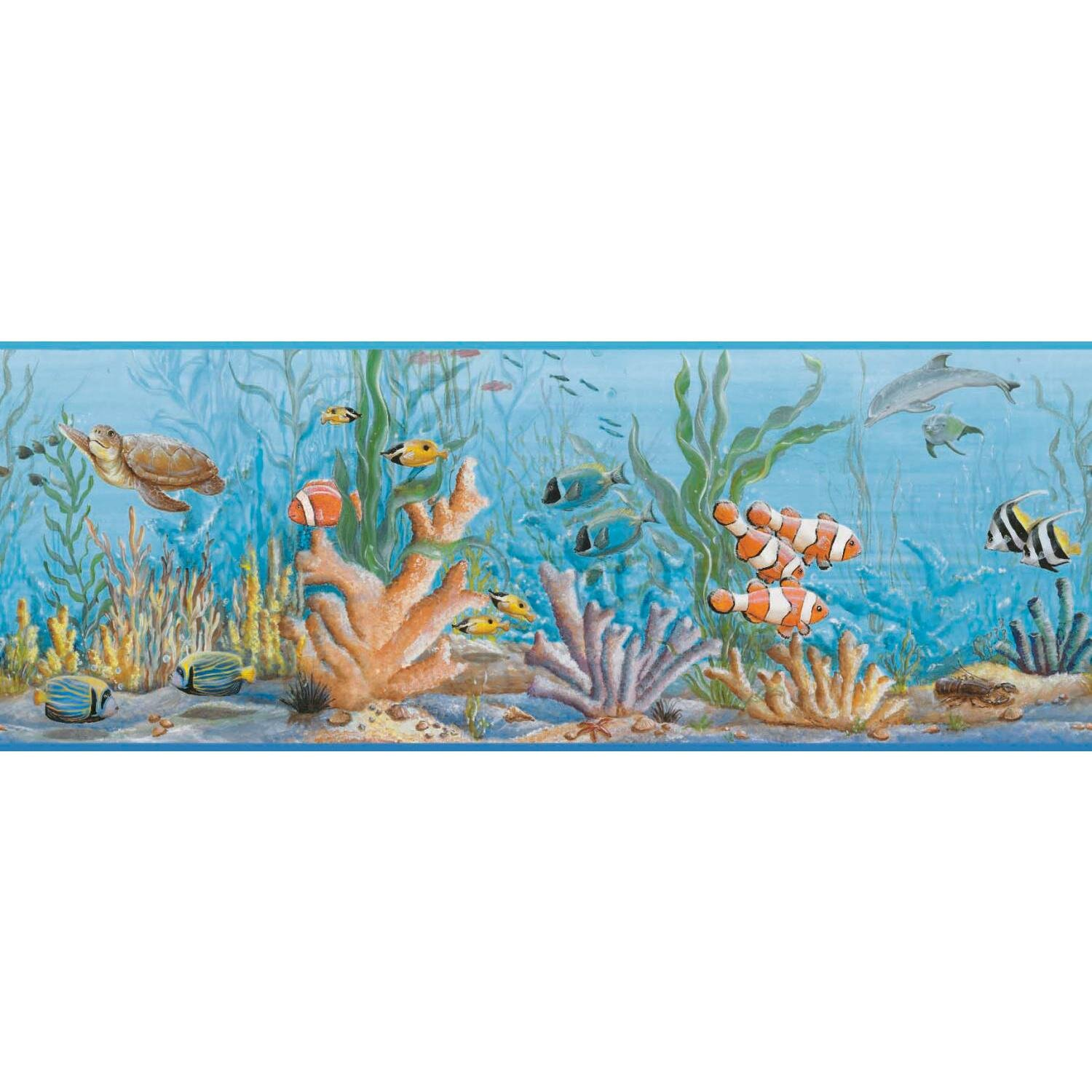 York Wallcoverings Growing Up Kids Honu Removable 0.75\' x 1.5 ...