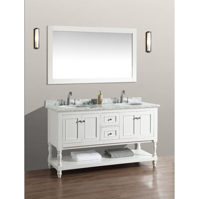 "Double Bathroom Vanity Photos kbc beverly 60"" double bathroom vanity set & reviews 