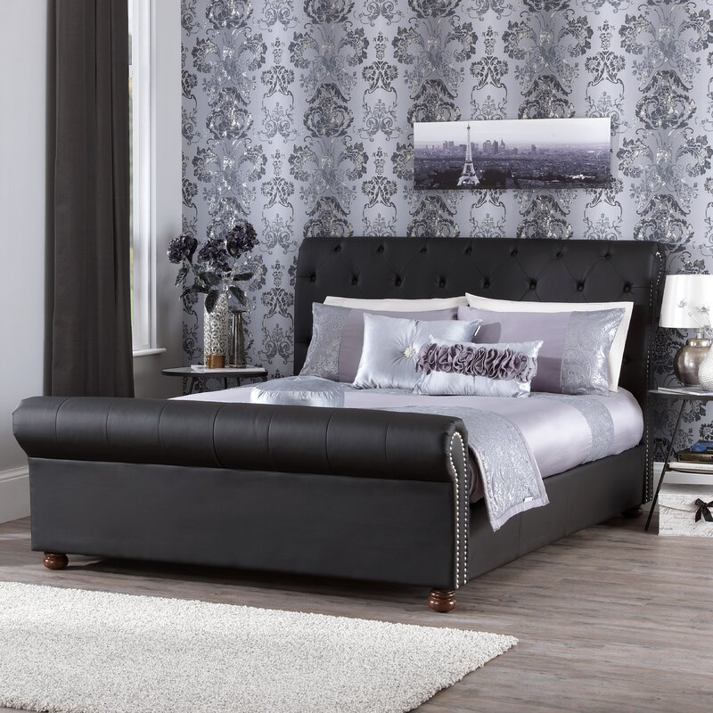 upholstered sleigh beds. Simple Sleigh Pira Upholstered Sleigh Bed On Beds