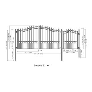 Steel Dual Swing Driveway Gate London Sty..