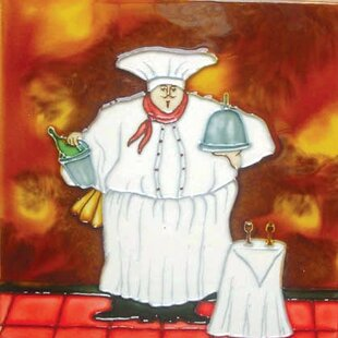 Fat Chef with Side Table Tile Wall Decor & Fat Chef Plates | Wayfair